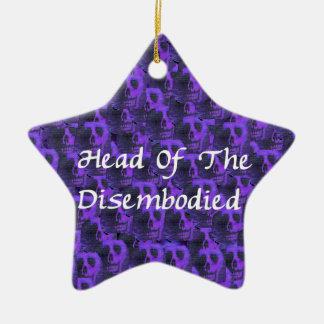 Head Of Disembodied Ceramic Star Decoration