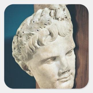 Head of Emperor Augustus  27-17 BC Square Sticker