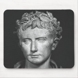Head of Emperor Augustus Mouse Mat