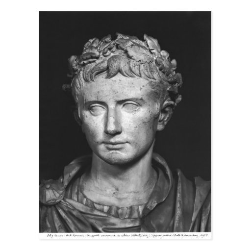 Head of Emperor Augustus Post Cards