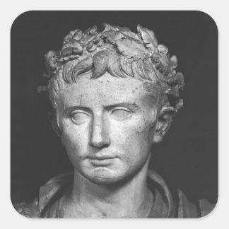 Head of Emperor Augustus Square Sticker