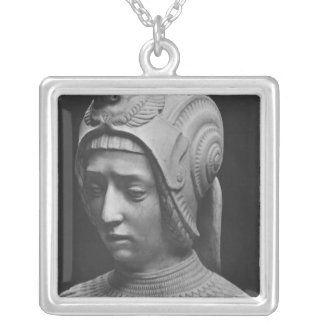 Head of Fortitude Silver Plated Necklace