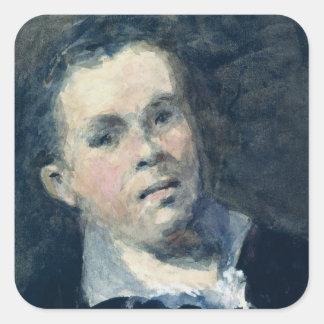 Head of Goya Square Sticker