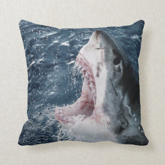 Head of Great White Shark Cushion