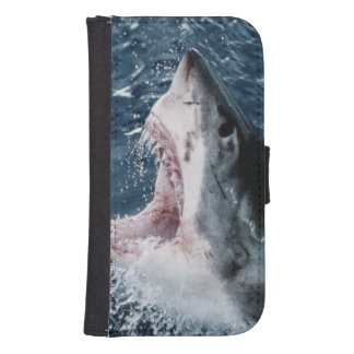 Head of Great White Shark Samsung S4 Wallet Case
