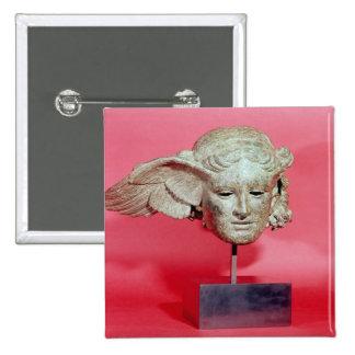 Head of Hypnos, copy of a Hellenistic original 15 Cm Square Badge