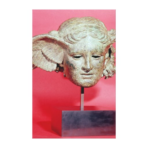 Head of Hypnos, copy of a Hellenistic original Gallery Wrapped Canvas