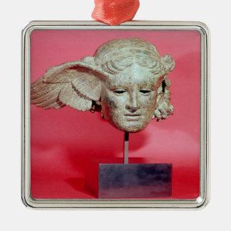 Head of Hypnos, copy of a Hellenistic original Silver-Colored Square Decoration