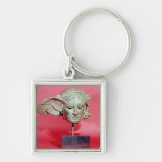 Head of Hypnos, copy of a Hellenistic original Silver-Colored Square Key Ring