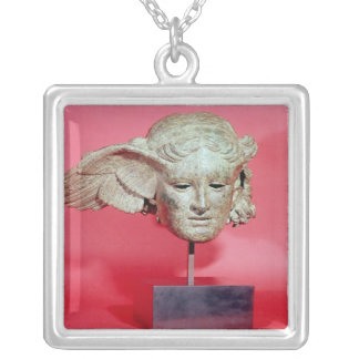 Head of Hypnos, copy of a Hellenistic original Silver Plated Necklace