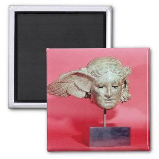 Head of Hypnos, copy of a Hellenistic original Square Magnet