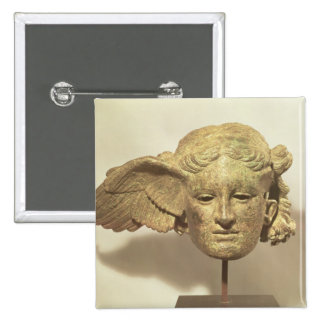 Head of Hypnos, or Sleep Pinback Button