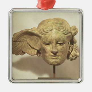 Head of Hypnos, or Sleep Silver-Colored Square Decoration