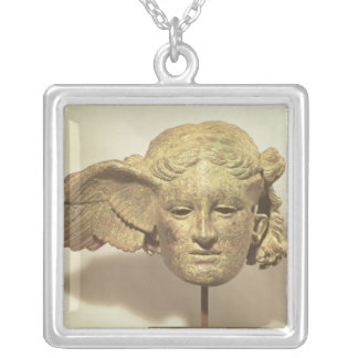 Head of Hypnos, or Sleep Square Pendant Necklace