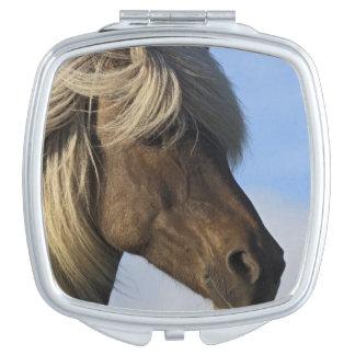 Head of Icelandic horse, Iceland Makeup Mirrors