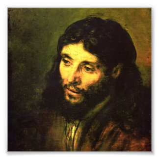 Head of Jesus By Rembrandt Photo Print