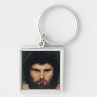 Head of Jupiter, study for Jupiter and Thetis Silver-Colored Square Key Ring