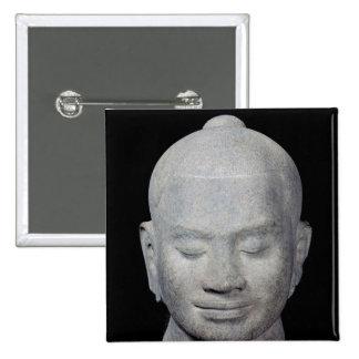 Head of King Jayavarman VII  Bayon Style 15 Cm Square Badge