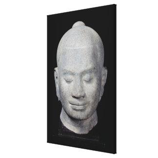 Head of King Jayavarman VII  Bayon Style Canvas Print