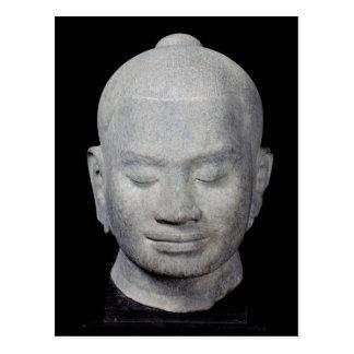 Head of King Jayavarman VII  Bayon Style Postcard