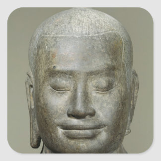 Head of King Jayavarman VII Square Sticker