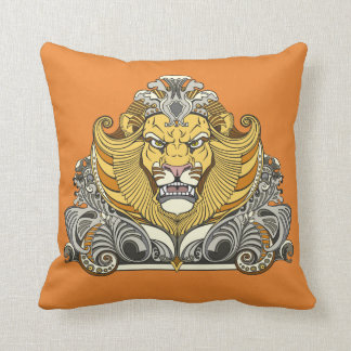 head of lion cushion