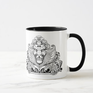 head of lion mug