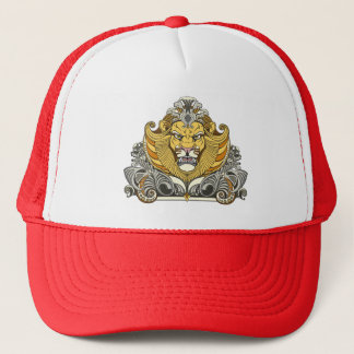 head of lion trucker hat