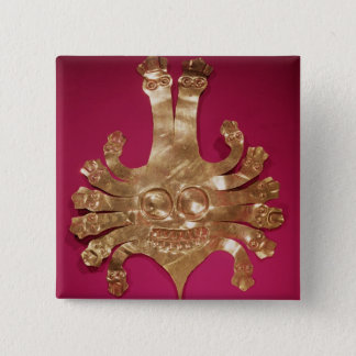 Head of Medusa, from Peru 15 Cm Square Badge