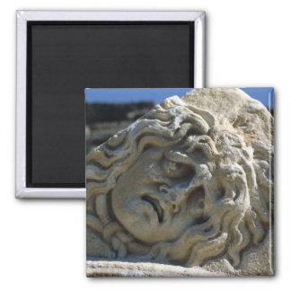 Head of Medusa Square Magnet