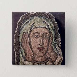 Head of one of the Holy Women, from Turkey 15 Cm Square Badge