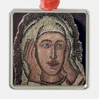 Head of one of the Holy Women, from Turkey Silver-Colored Square Decoration