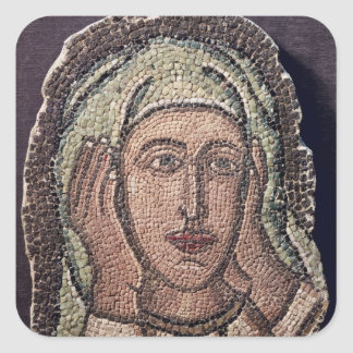 Head of one of the Holy Women, from Turkey Square Sticker