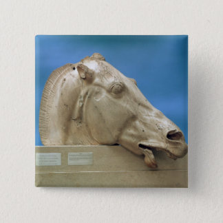 Head of one of the horses of Selene 15 Cm Square Badge