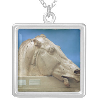 Head of one of the horses of Selene Silver Plated Necklace