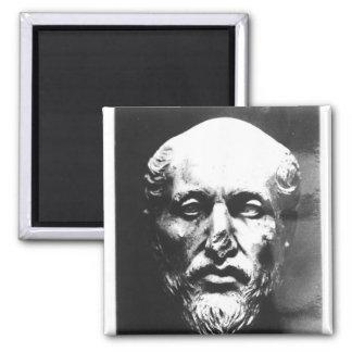 Head of Plotinus Square Magnet