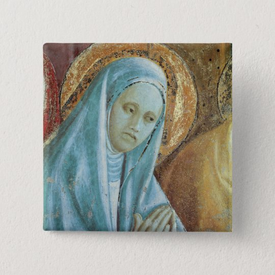 Head of Saint Anne from the Presentation of 15 Cm Square Badge