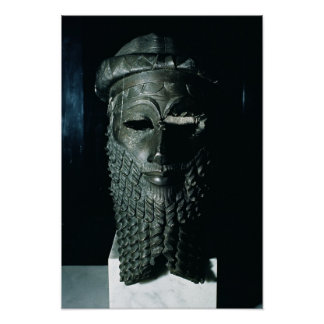 Head of Sargon I  2334-2200 BC Poster