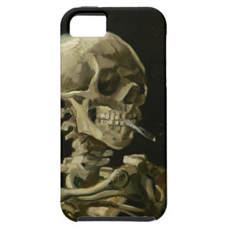 Head of Skeleton with Cigarette by Van Gogh iPhone 5 Cases