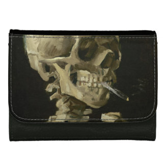 Head of Skeleton with Cigarette by Van Gogh Wallets
