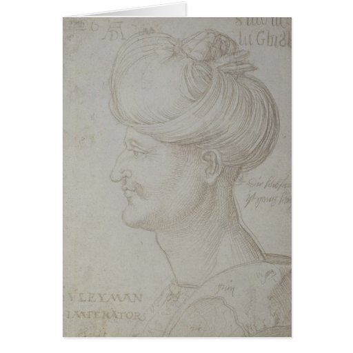 Head of Suleyman the Magnificent  1526 Cards