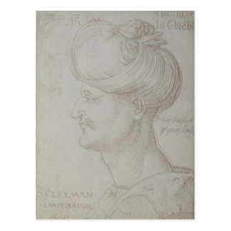 Head of Suleyman the Magnificent  1526 Postcard