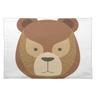 Head Of The Brown Bear Placemat