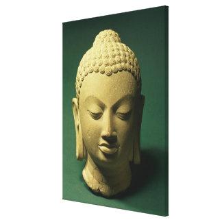 Head of the Buddha, Sarnath (sandstone) Canvas Print