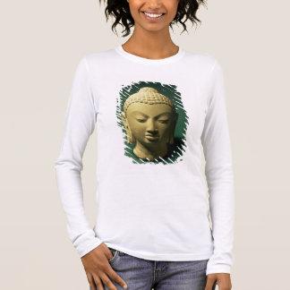 Head of the Buddha, Sarnath (sandstone) Long Sleeve T-Shirt