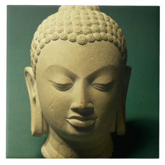 Head of the Buddha, Sarnath (sandstone) Tile