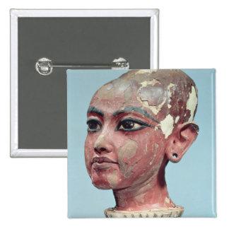 Head of the child king Tutankhamun emerging 15 Cm Square Badge