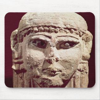 Head of the goddess Ishtar, from Amman, Jordan Mouse Mat