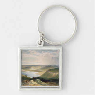 Head of the Harbour, Sebastopol, plate from 'The S Silver-Colored Square Key Ring