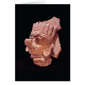 Head of the Mayan corn god, Oaxaca, c.500 AD Card